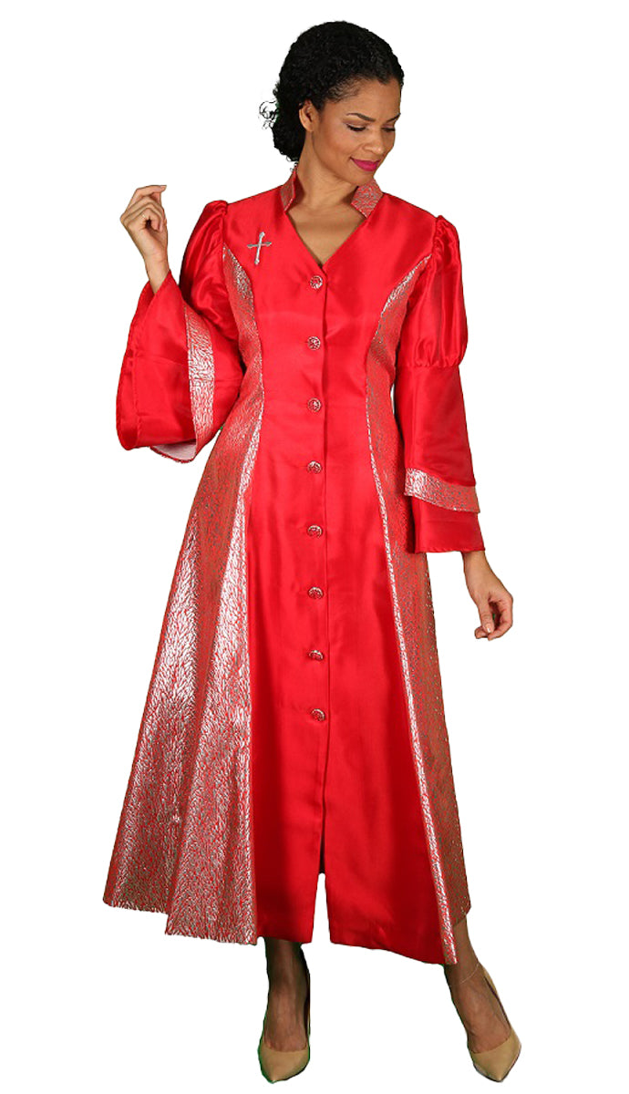 Diana Women Robe 8147-Red - Church Suits For Less
