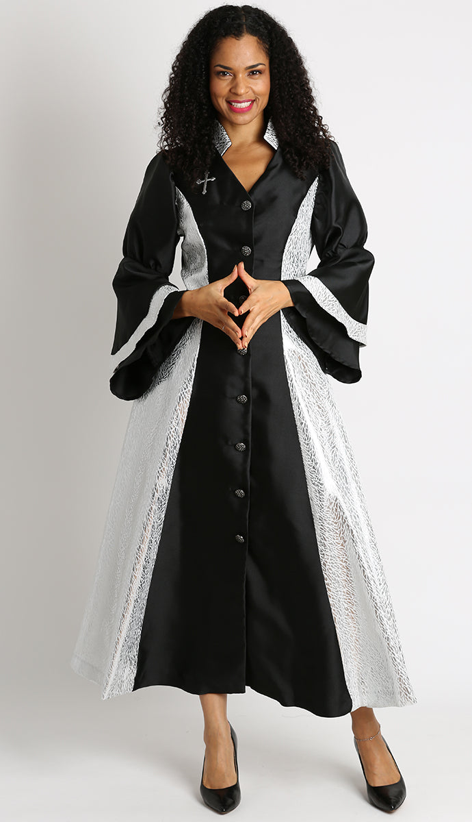 Diana Women Robe 8147-Black - Church Suits For Less