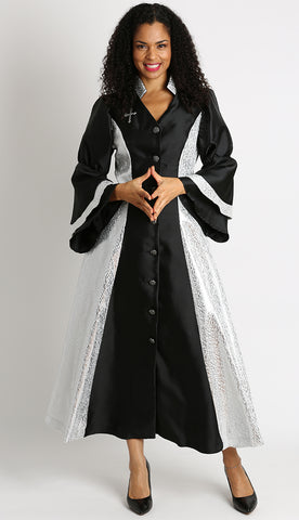 Diana Women Robe 8147-Black