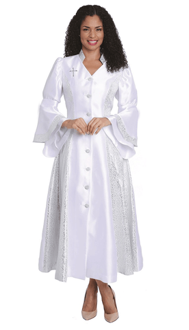Diana Women Robe 8147-White - Church Suits For Less