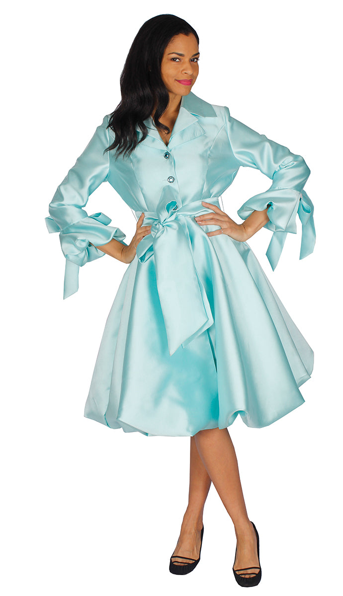 Diana Couture Dress 8222-Mint - Church Suits For Less