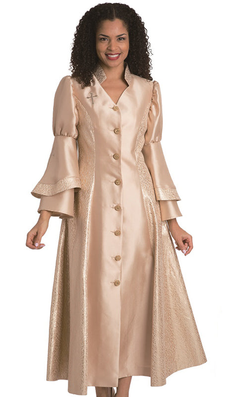 Diana Women Robe 8147-Gold - Church Suits For Less