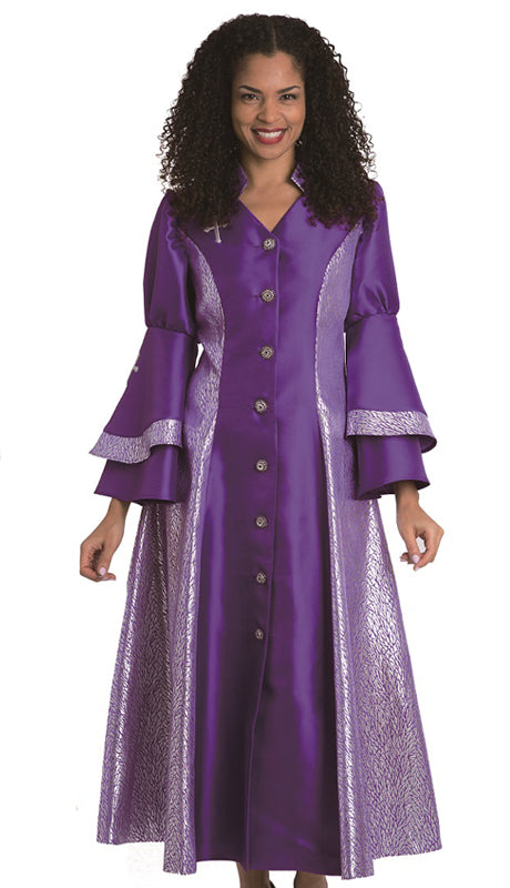 Diana Women Robe 8147-Purple - Church Suits For Less