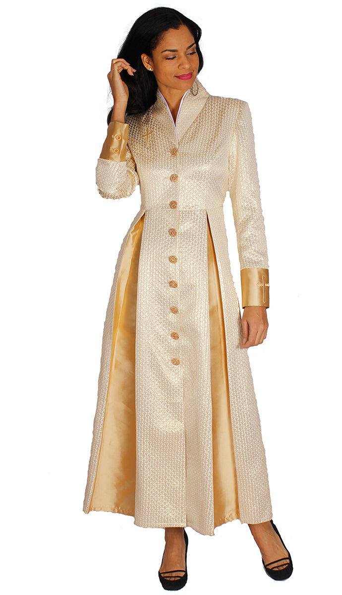 Diana Couture Church Robe 8556-Gold - Church Suits For Less