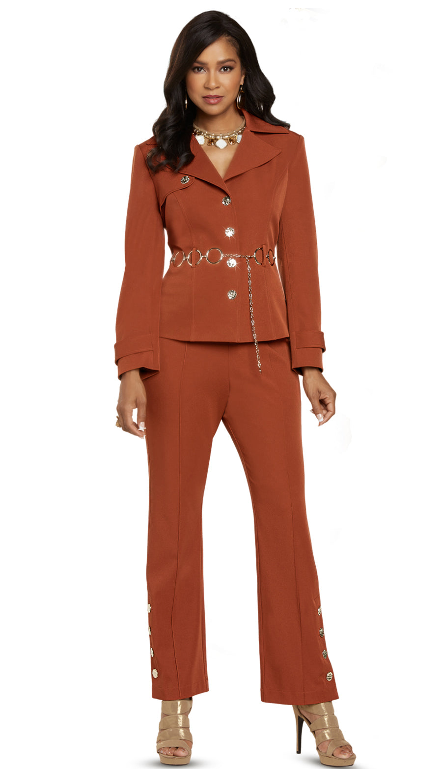 Donna Vinci Pant Suit 11899 - Church Suits For Less