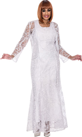 Dorinda Clark Cole Dress DCC142-White