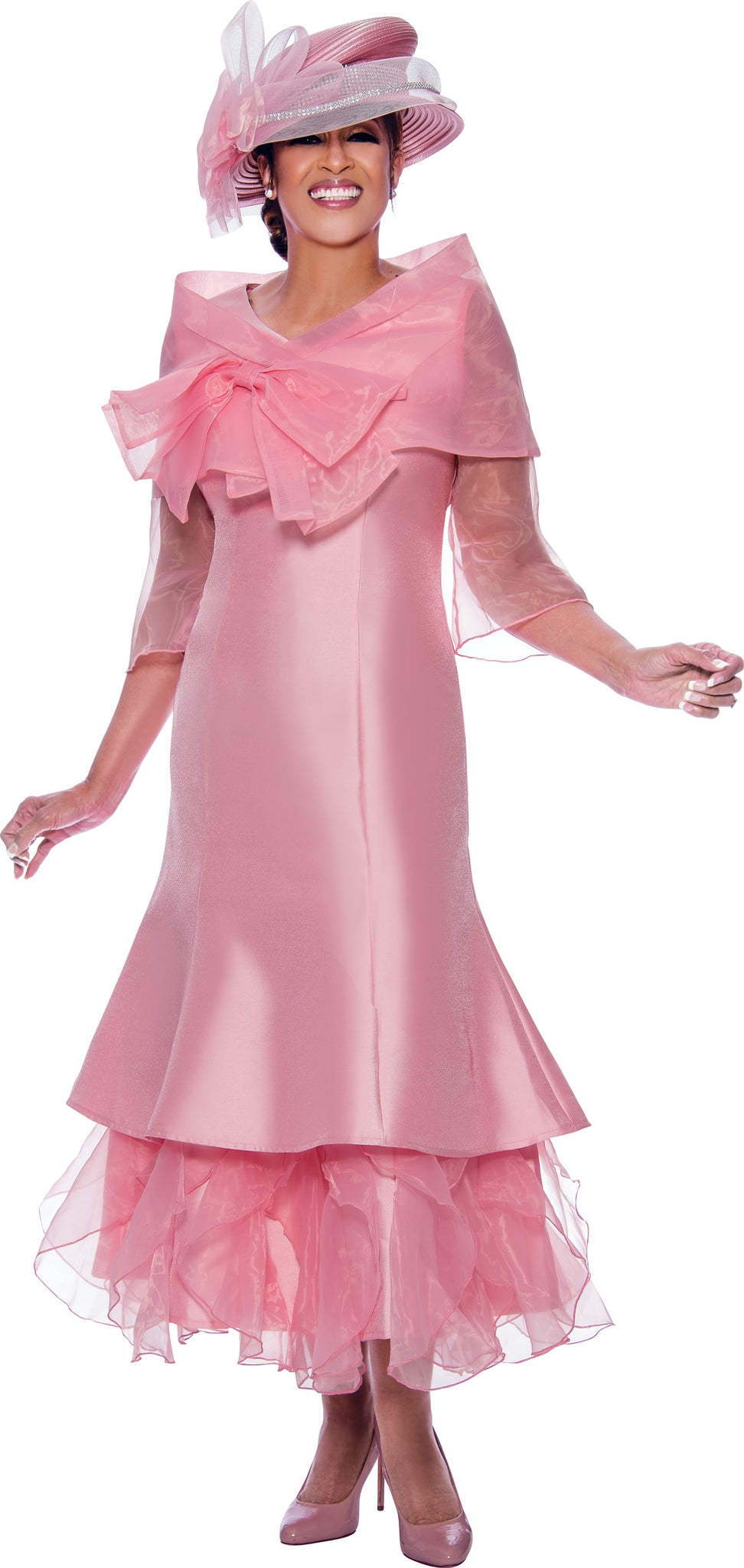 Dorinda Clark Cole 2692C-Pink - Church Suits For Less