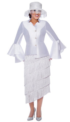 Dorinda Clark Cole Suit 9032-White