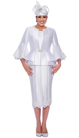 Dorinda Clark Cole Suit 9053-White
