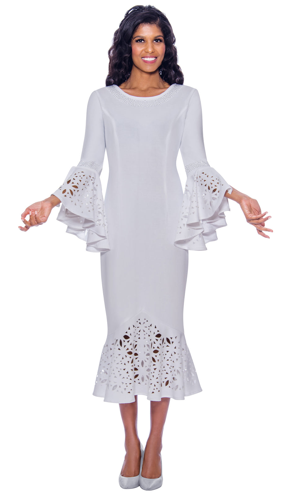 Dress By Nubiano 2761-White - Church Suits For Less