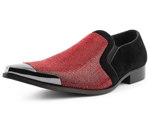 Men Dress Shoes-Dezzy-Red
