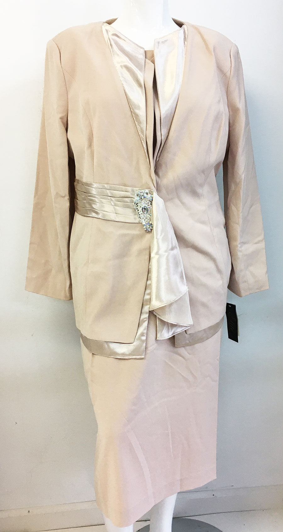 Elite Champagne Suit 3755-Cream - Church Suits For Less