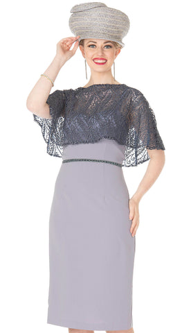 Aussie Austine Dress 5368-Silver Grey