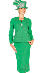 Elite Champagne Knit Suit 5655 - Church Suits For Less