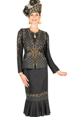 Elite Champagne Knit Suit 5657 - Church Suits For Less