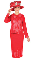 Elite Champagne Knit Suit 5688 - Church Suits For Less
