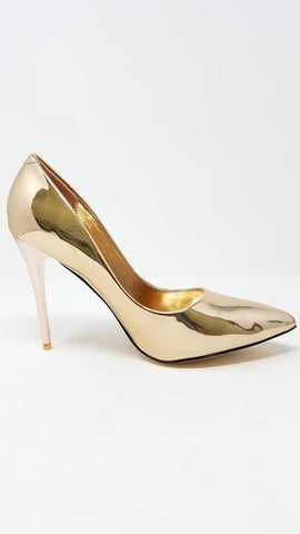 Women Church Shoes-FabiC-Rose Gold