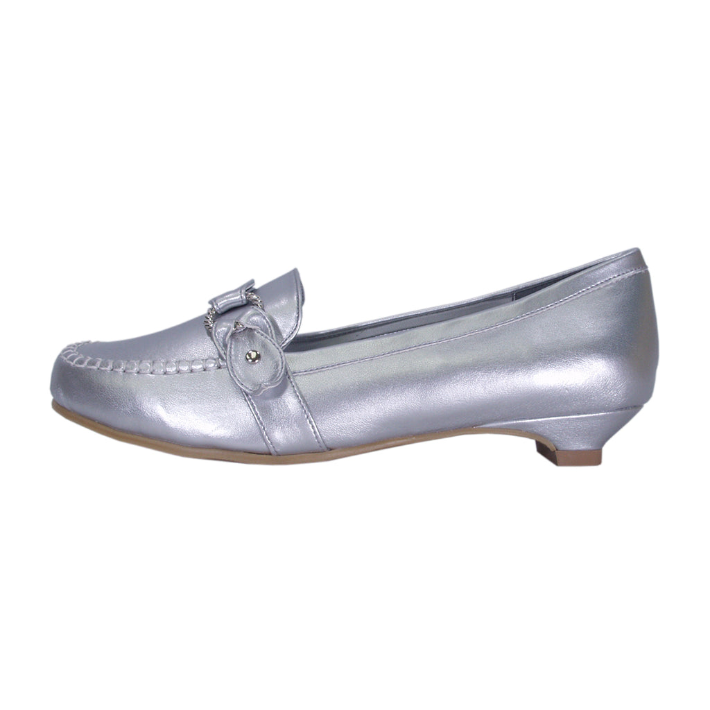 Women Church Shoes Elin-FT680-Silver - Church Suits For Less