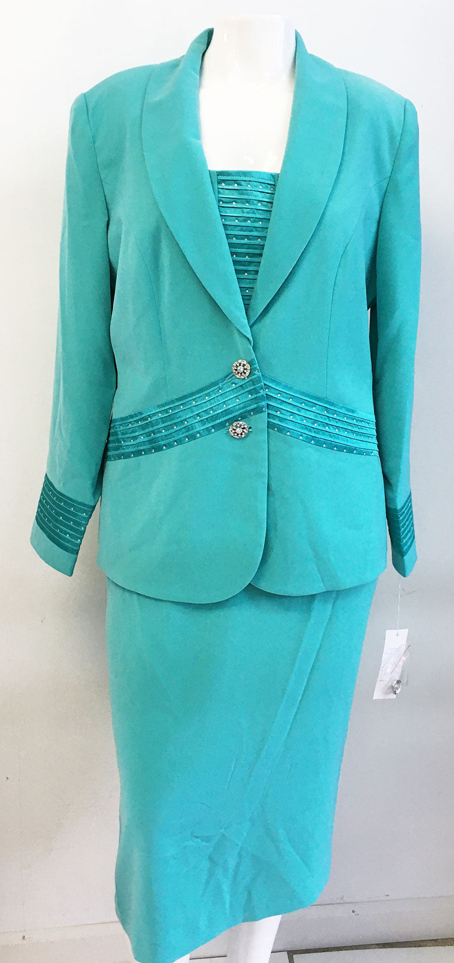 Fifth Sunday Suit 52713-Mint - Church Suits For Less