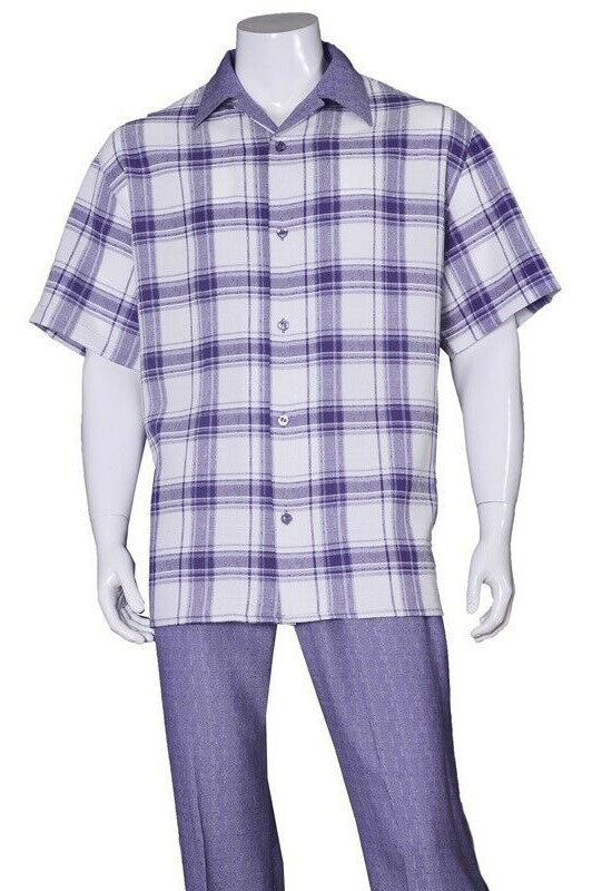 Fortino Landi Walking Set M2972-Purple - Church Suits For Less