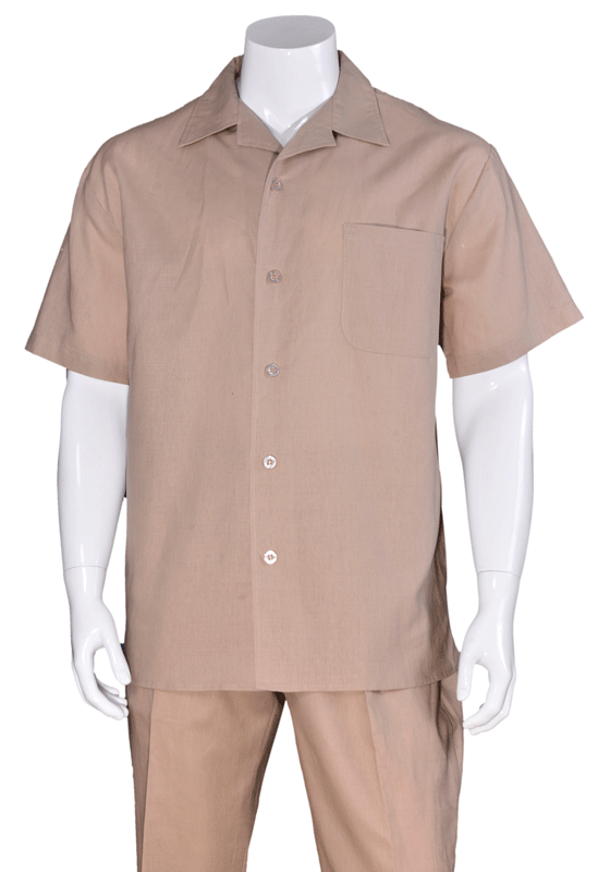 Fortino Landi Walking Set M2806-Khaki - Church Suits For Less