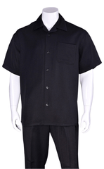 Fortino Landi Walking Set M2954C-Black - Church Suits For Less