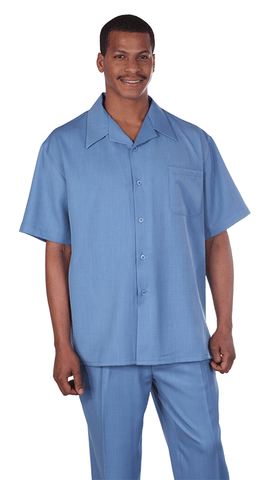Fortino Landi Walking Set M2954-Blue - Church Suits For Less