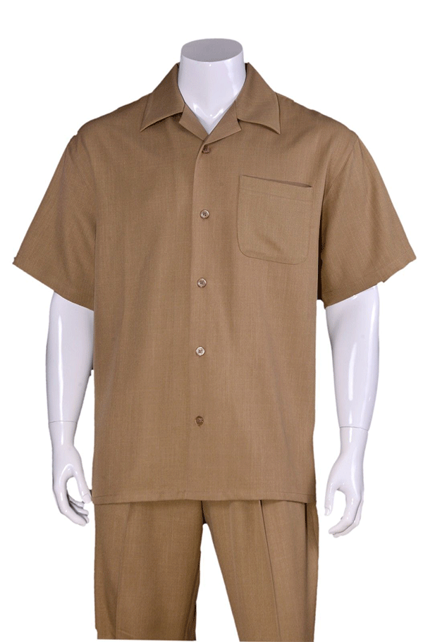 Fortino Landi Walking Set M2954-Tan - Church Suits For Less