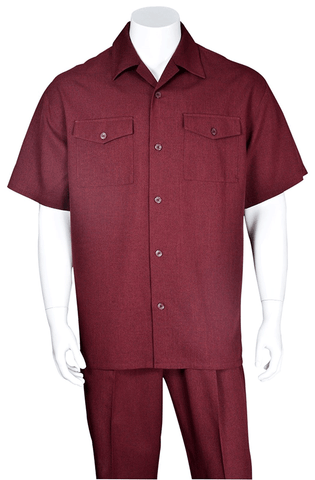 Fortino Landi Walking Set M2961-Burgundy - Church Suits For Less