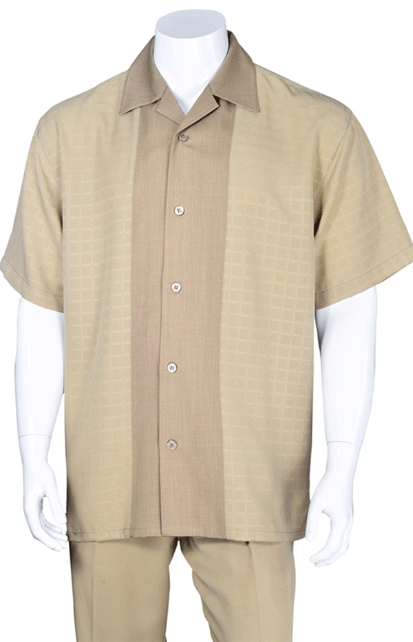 Fortino Landi Walking Set M2960-Khaki - Church Suits For Less
