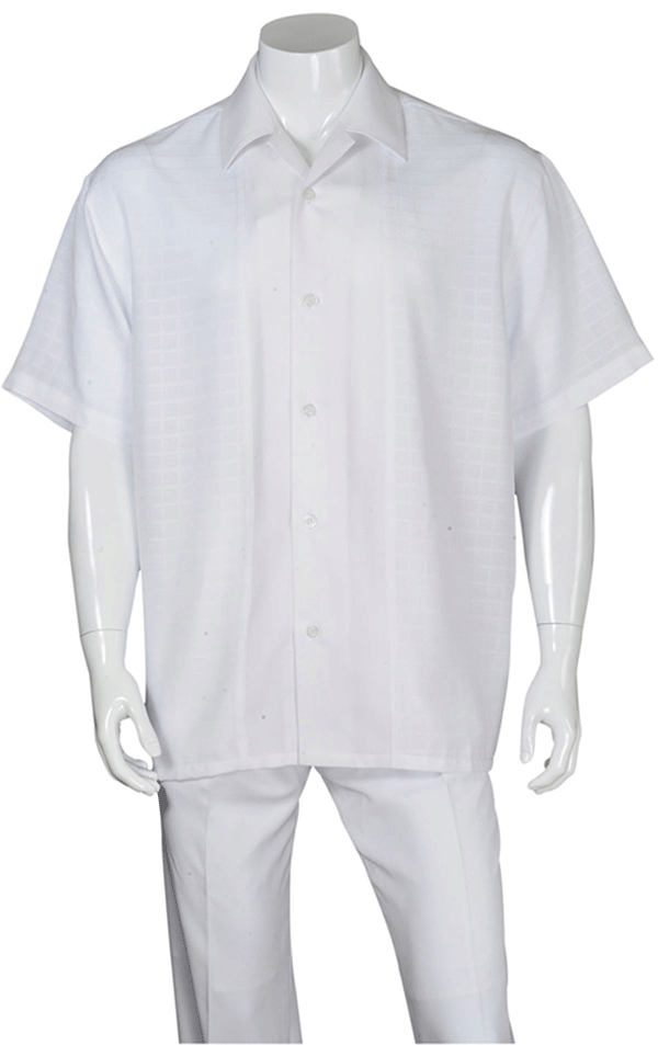 Fortino Landi Walking Set M2960-White - Church Suits For Less