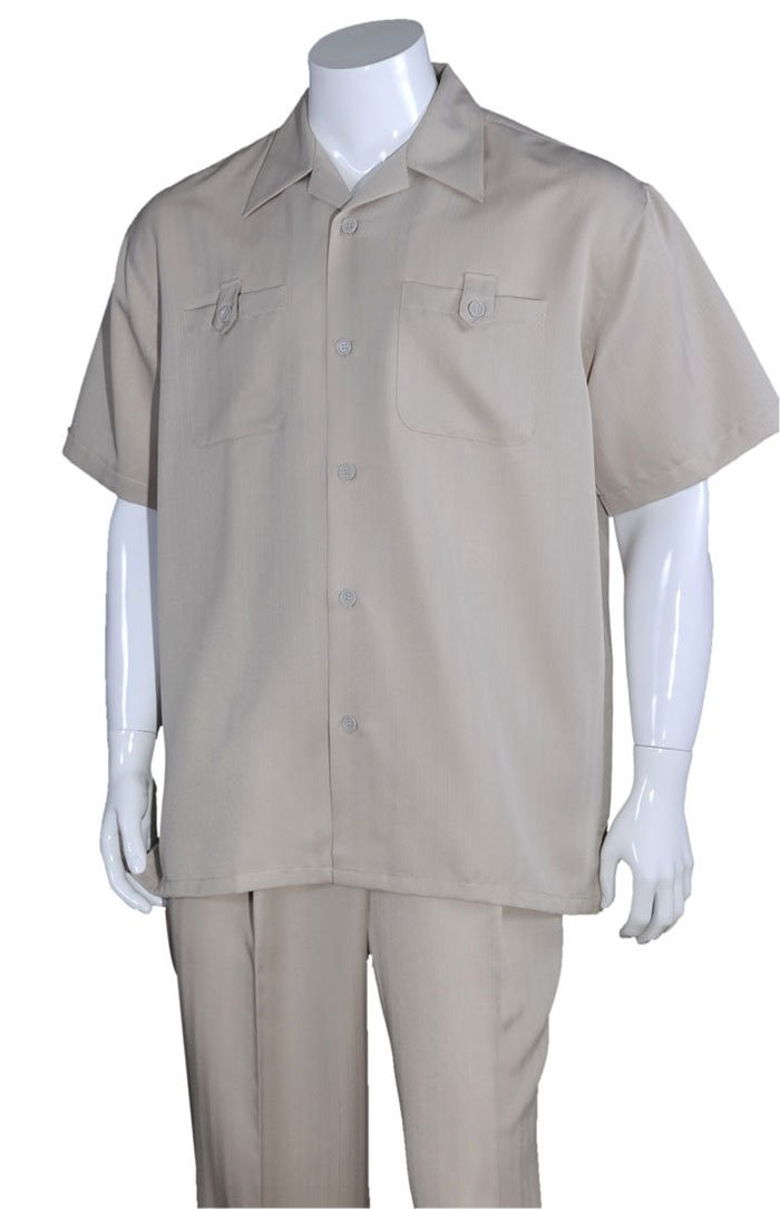 Fortino Landi Walking Set M2963-Khaki - Church Suits For Less