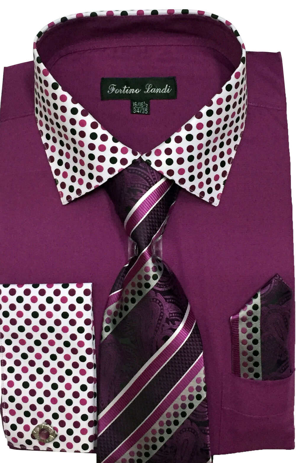 Fortino Landi Shirt FL630-Purple - Church Suits For Less