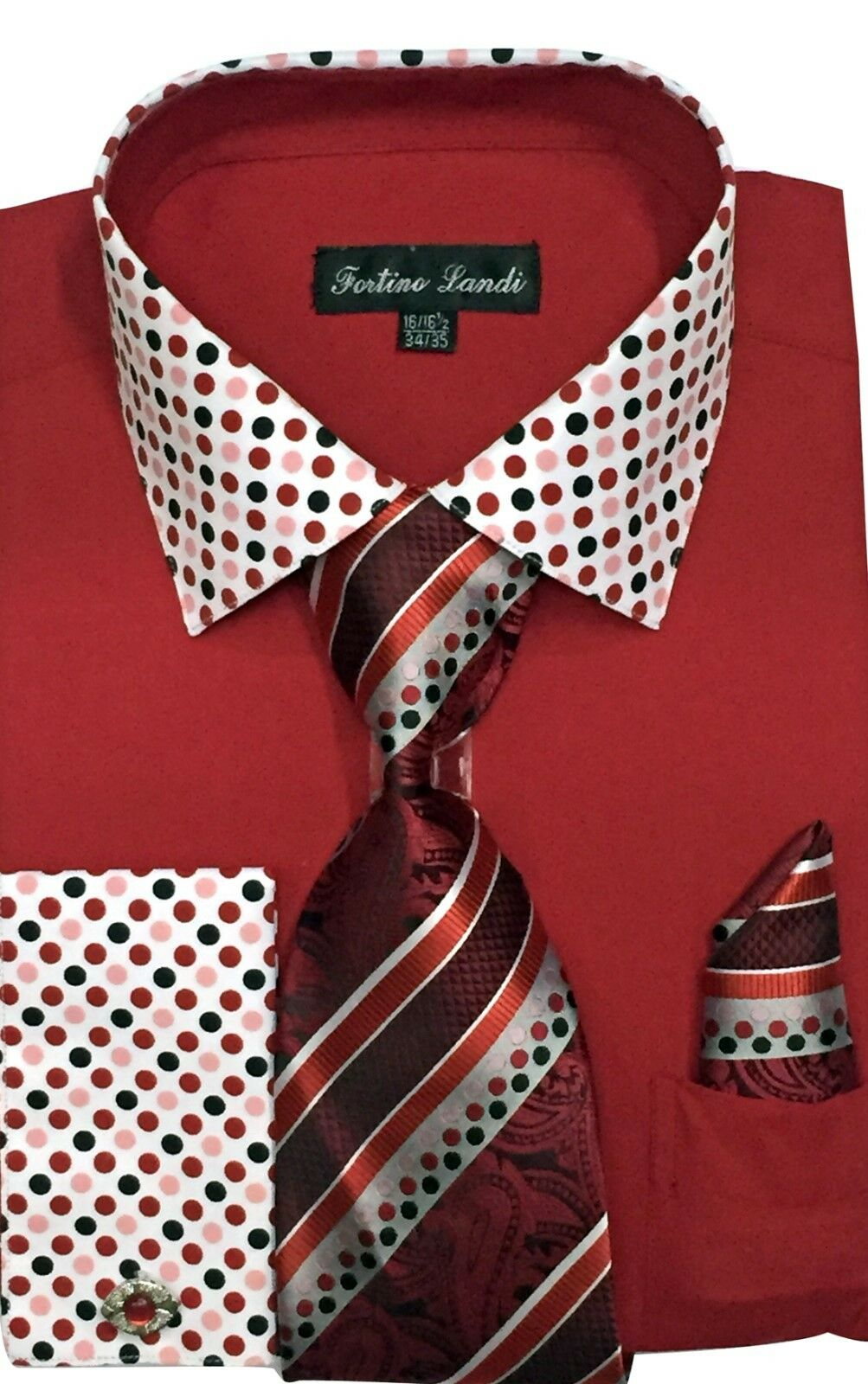 Fortino Landi Shirt FL630-Red - Church Suits For Less