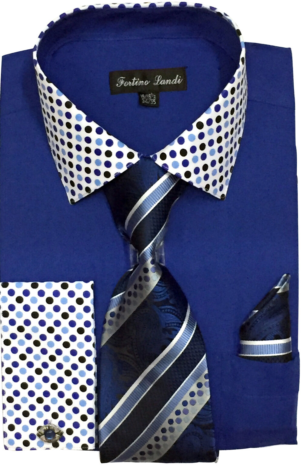 Fortino Landi Shirt FL630-Royal Blue - Church Suits For Less