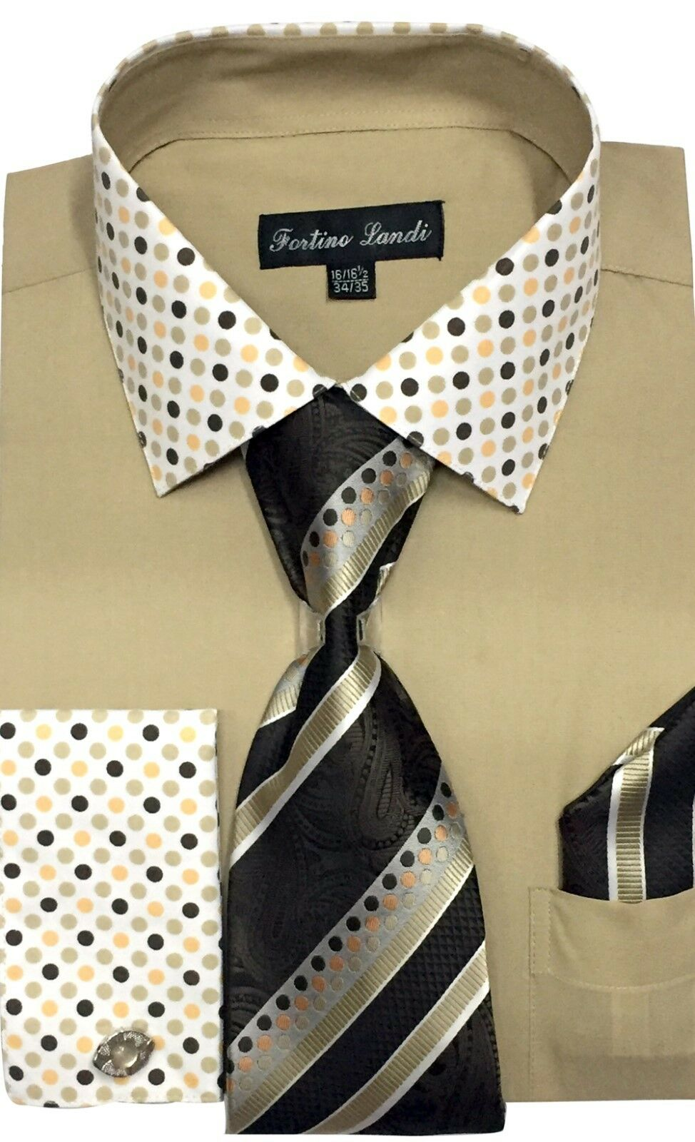 Fortino Landi Shirt FL630-Tan - Church Suits For Less