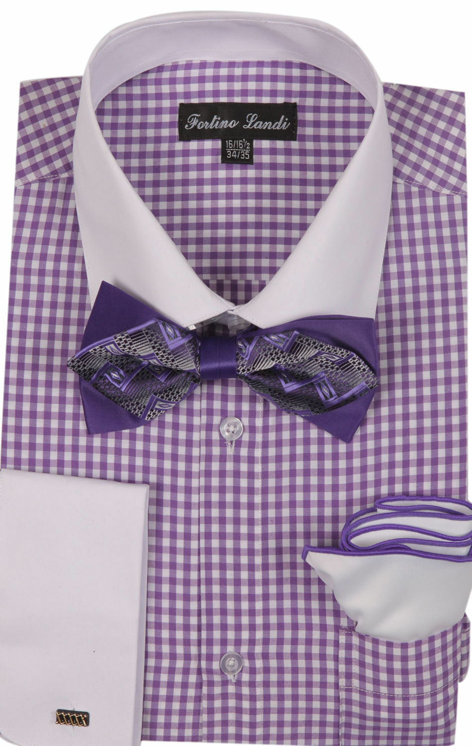 Fortino Landi Shirt MS628-Lavender - Church Suits For Less