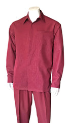 Fortino Landi Walking Set M2764-Burgundy - Church Suits For Less