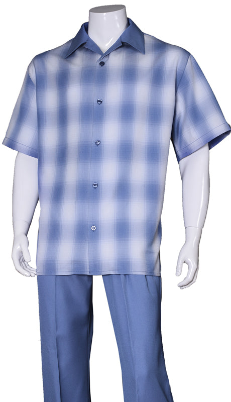 Fortino Landi Walking Set M2970-Blue - Church Suits For Less