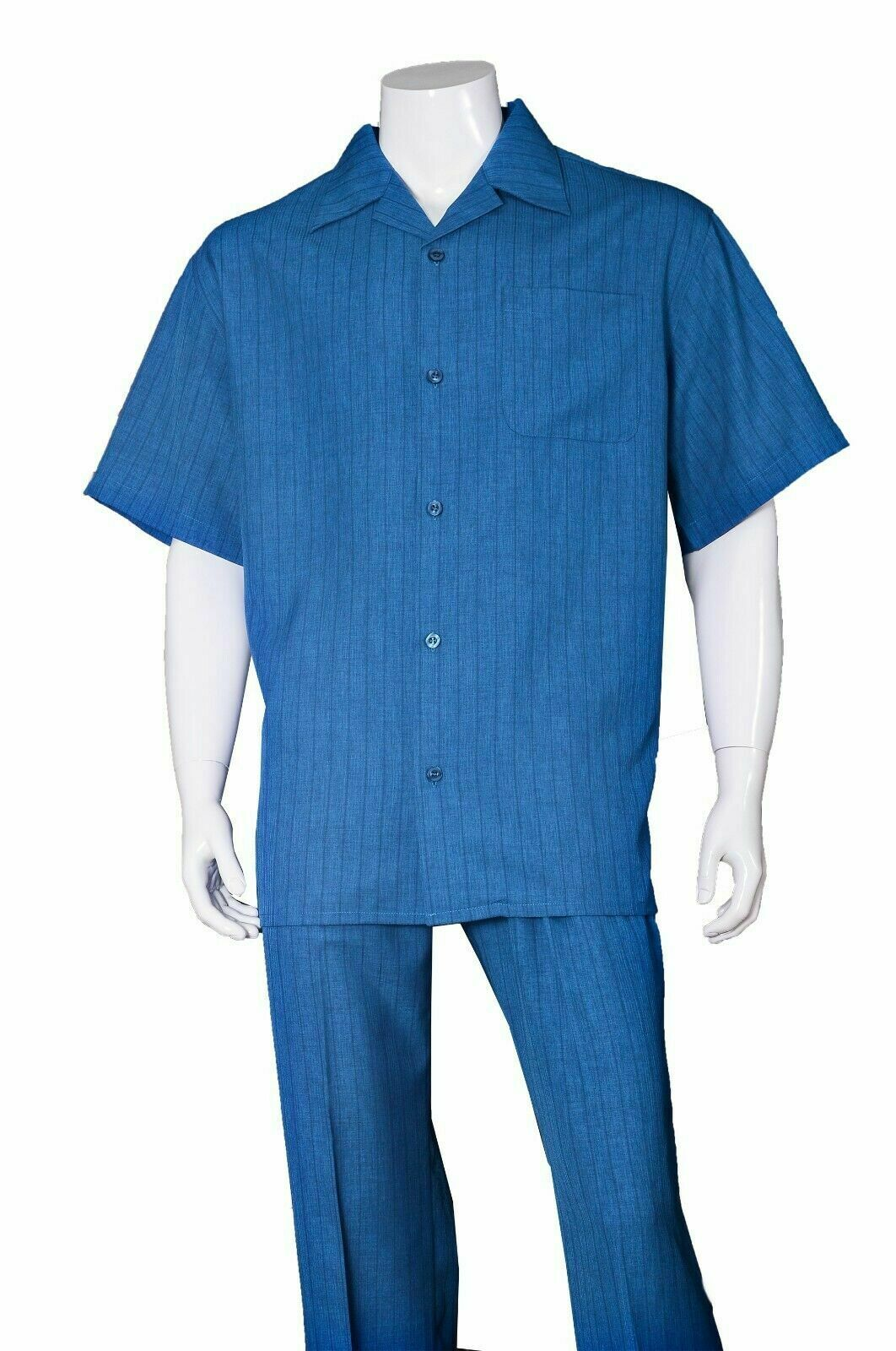 Fortino Landi Walking Set M2971-Blue - Church Suits For Less