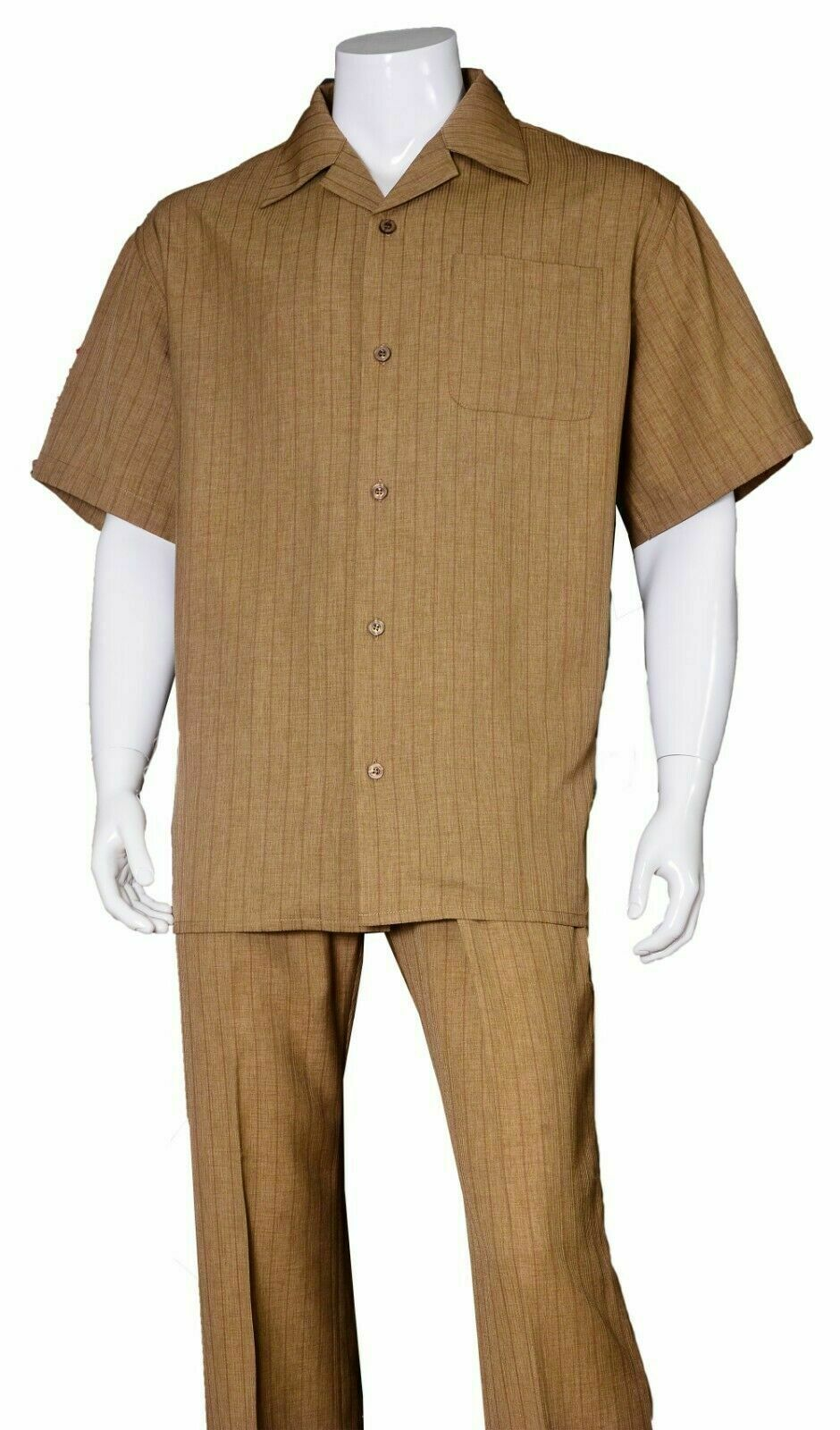 Fortino Landi Walking Set M2971-Brown - Church Suits For Less