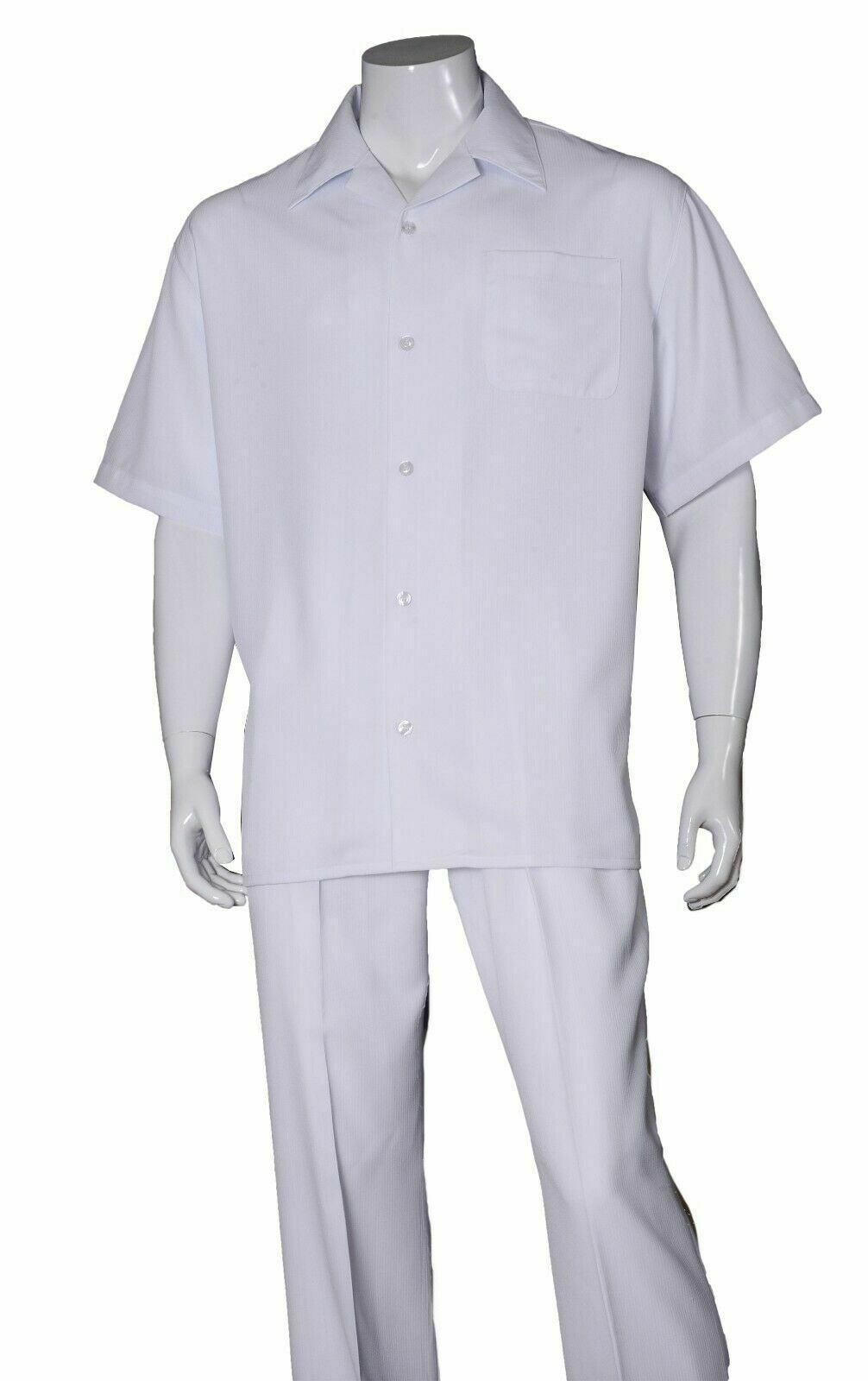 Fortino Landi Walking Set M2971-White - Church Suits For Less
