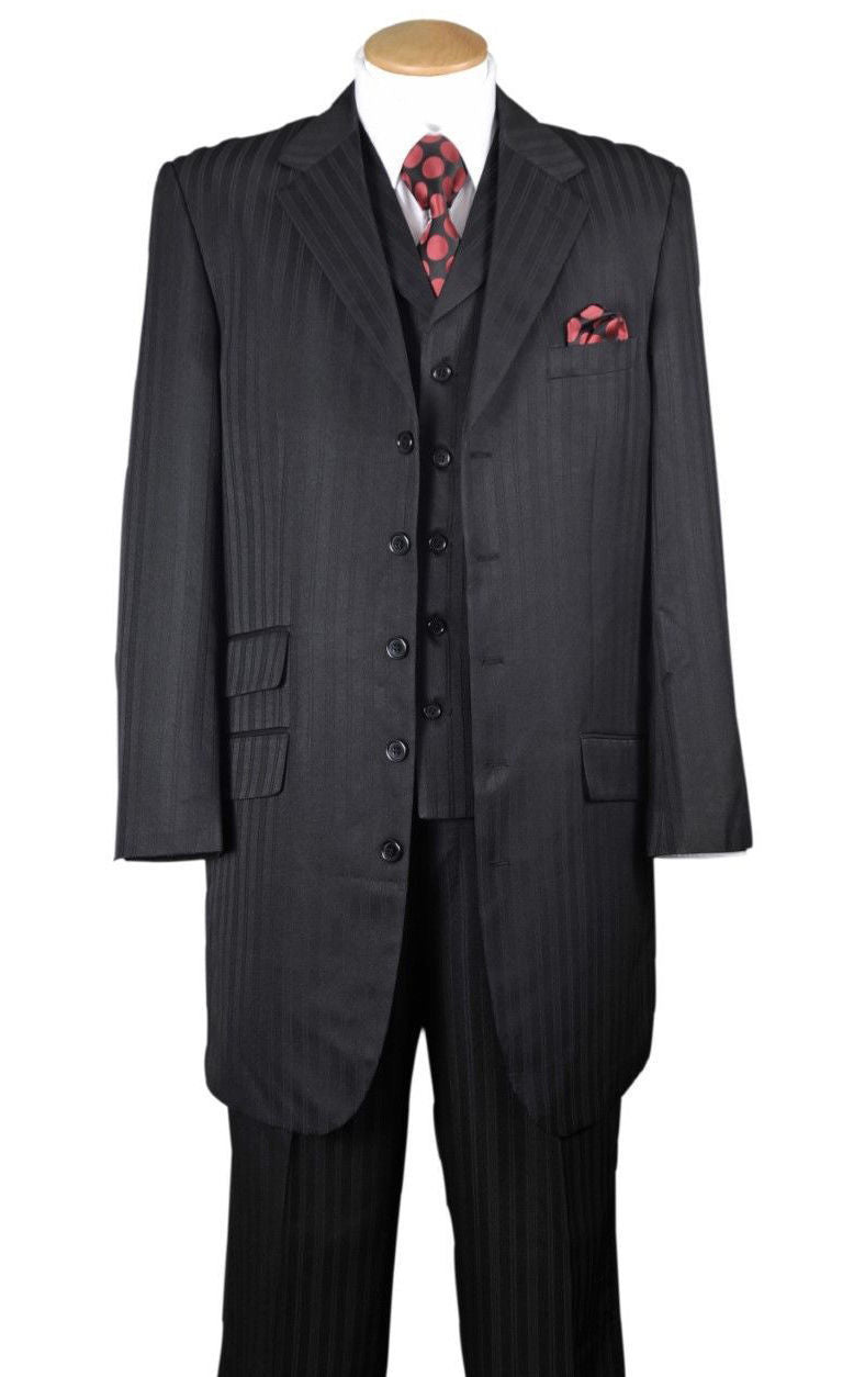 Fortino Landi Men Suit 29198-Black - Church Suits For Less