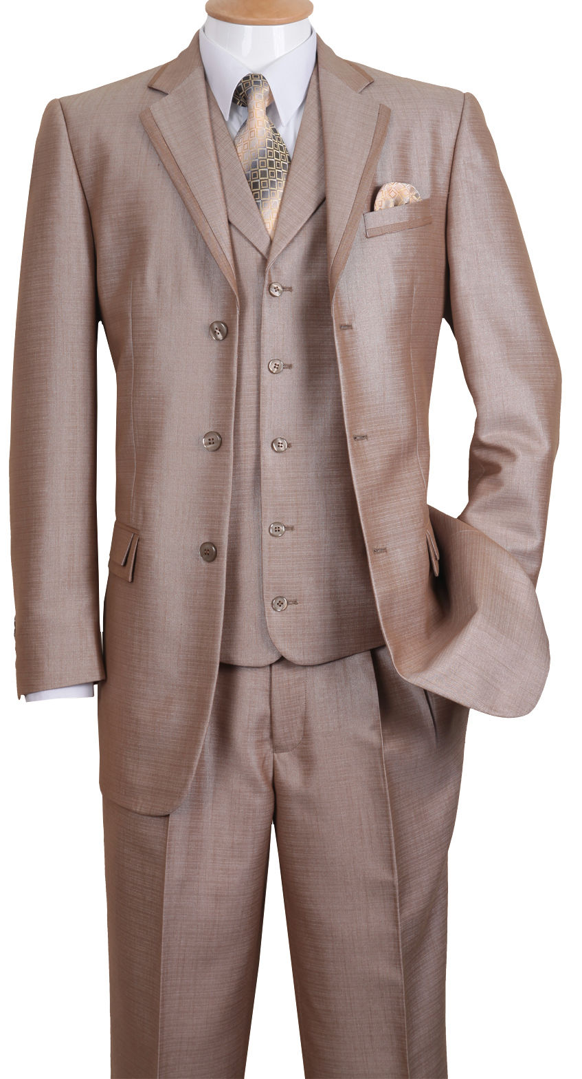 Fortino Landi Men Suit 5909V-Tan - Church Suits For Less