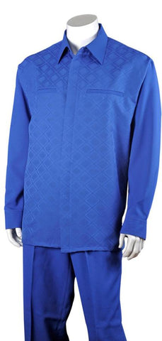 Fortino Landi Walking Set M2762-Royal Blue - Church Suits For Less