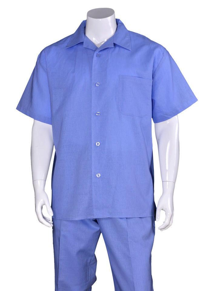 Fortino Landi Walking Set M2806-Blue - Church Suits For Less