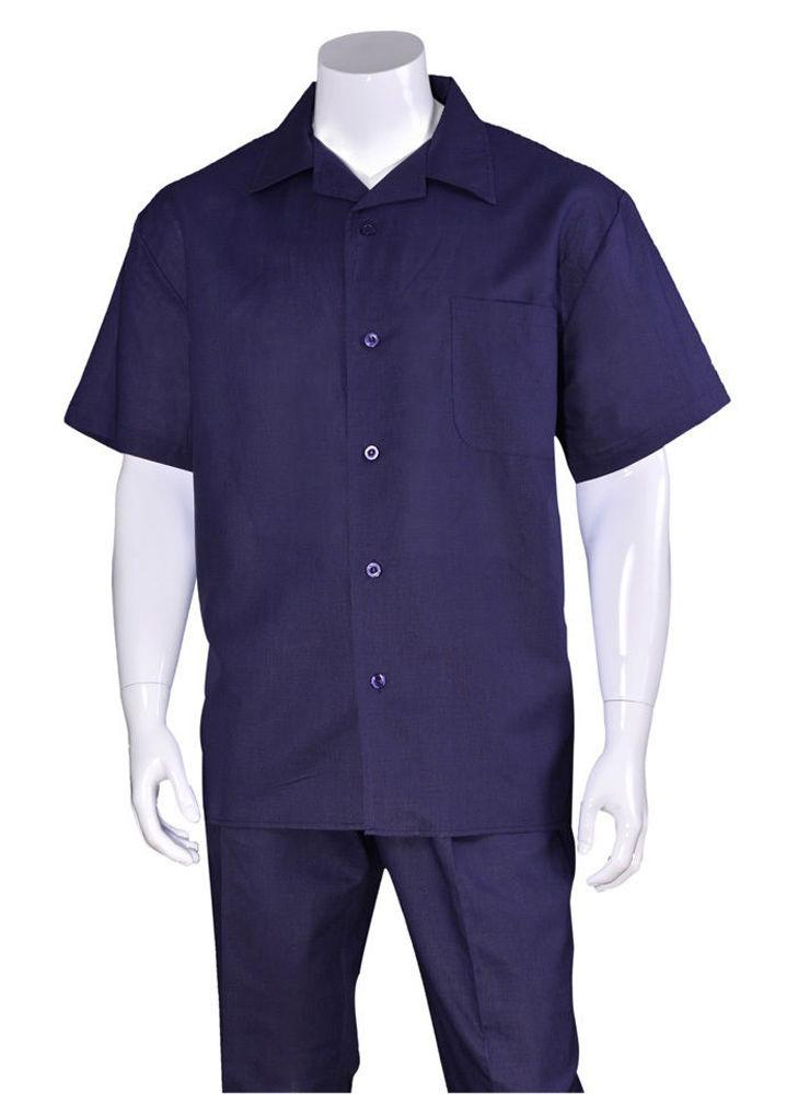 Fortino Landi Walking Set M2806-Navy - Church Suits For Less