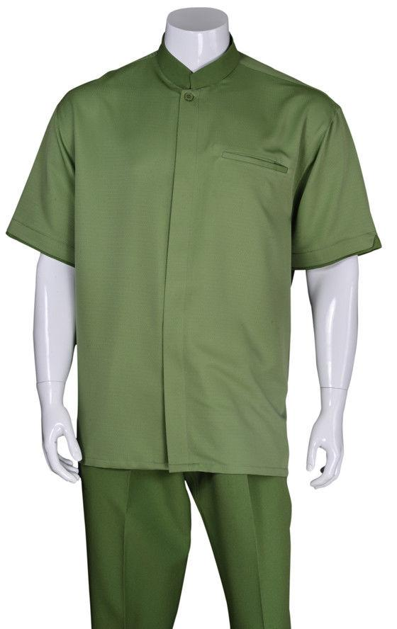 Fortino Landi Walking Set M2959-Green - Church Suits For Less
