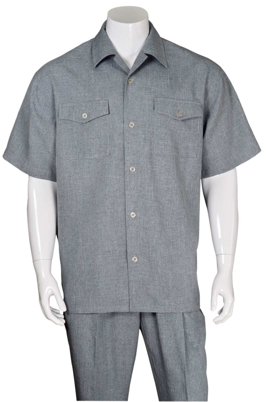 Fortino Landi Walking Set M2961-Grey - Church Suits For Less