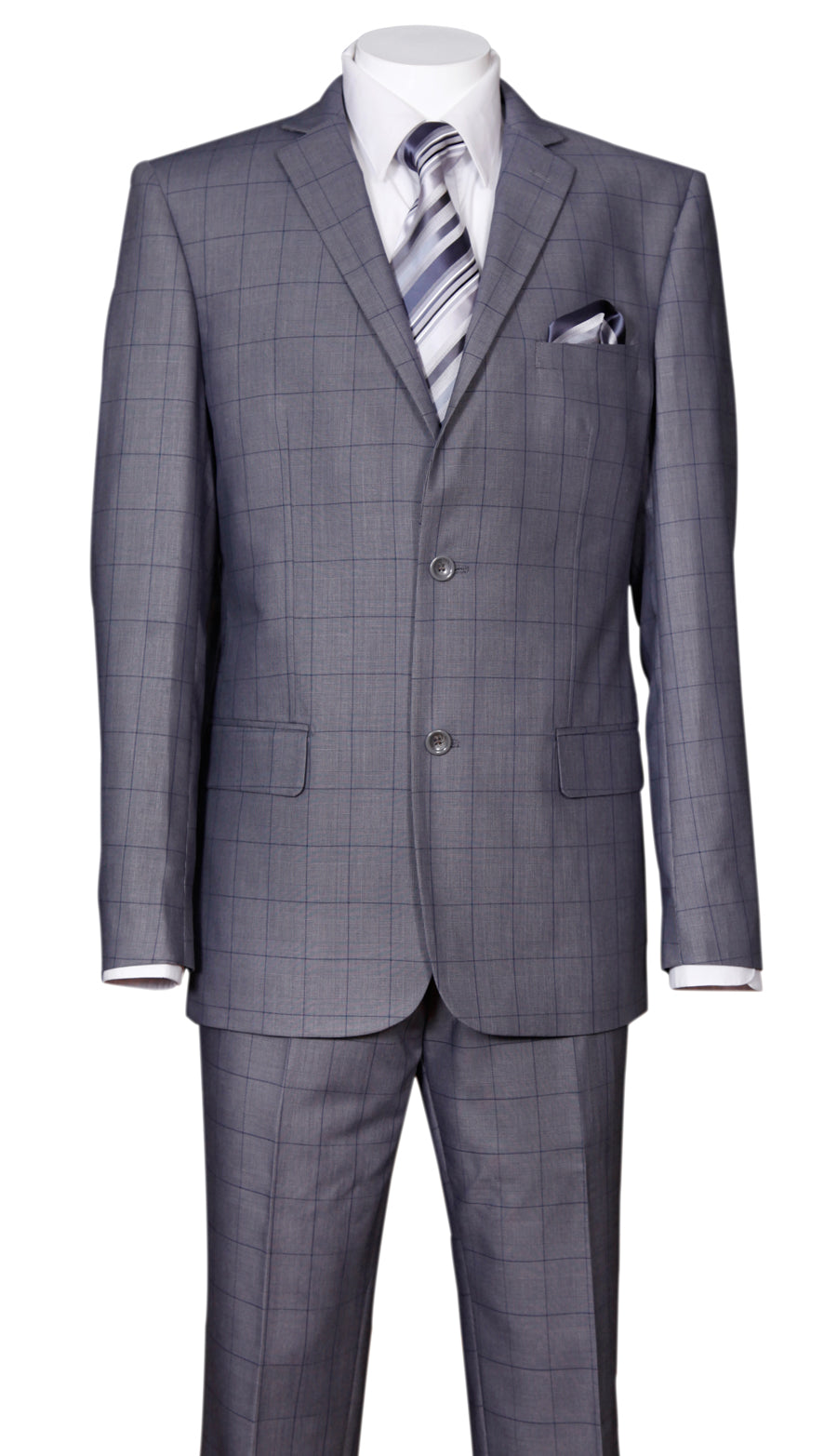 Fortino Landi Men Suit 570203-Grey - Church Suits For Less